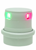 Aqua Signal Tri-Colour LED Navigation Light with White Housing