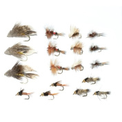 Trout Fly Starter Assortment - Collection of 18 Best Flies For Trout Fly Fishing - Beginners Fly Selection