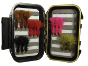 Woolly Bugger Fly Assortment by Wild Water, 15 Flies with Small Fly Box
