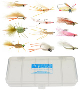 Bonefish & Permit Flats Fly Collection 12 Flies + Fly Box