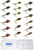 Copper John Fly Collection - 18 Flies + Fly Box