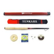 DRAGONtail Tenkara Shadowfire 360 12' Tenkara Fly Fishing Rod PLUS Complete Starter Package – Flies, Leader, Tippet, Line Holder, Storage Tube, and Rod Sock