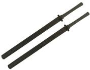 Set of 2 Blue Fushion 90cm Black Foam Bokken Swords w/ Black Plastic Handle