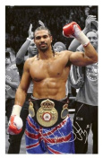 David Haye Signed Autographed 21cm x 29.7cm A4 Photo Poster