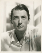 GREGORY PECK AUTOGRAPH GLOSSY PHOTO PRINT