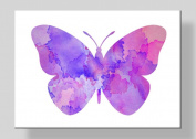 WATERCOLOUR PRINT of Original Watercolour Painting - PURPLE & PINK BUTTERFLY- ART - 18cm x 13cm GICLEE ART PRINT - Archival Print on Heavyweight Watercolour Archival Paper - Animal Art Print - INSECT -Illustration - Home Decor -Wall Hanging 2Wa57w