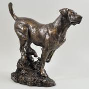 David Geenty Bronze Sculpture - Labrador Dog Statue by David Geenty