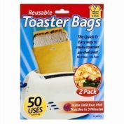 Toaster Bags Reusable Toastie Pouches Non Stick Toasted Sandwich Food Bags