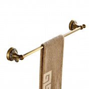 Weare Home Single Towel Bar Towel Holder Hanger Brass Construction Antique Brass Finished Wall Mounted Bathroom Accessories Retro Vintage Design