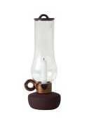 """Seletti 30 cm Tall Porcelain and Glass """"Lanterna"""" Candle Holder, Bronze"""