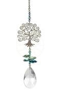 Crystal Fantasy Hanging Suncatcher/Rainbow Maker + 38mm Almond - TREE OF LIFE