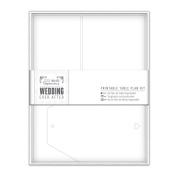 Papermania Wedding Printable Table Plan Kit, White Heart