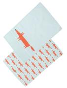 Dexam Rushbrookes Mr Fox Set Of 2 Tea Towels Blue
