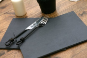 Creative Tops New High Quality 100 Percent Natural Slate Placemats Table Mats, Set of 2, Multi-Colour