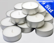 24 Maxi Tea Lights in Aluminium Container White, Jumbo Tea Lights / Candles, Scent Free, Catering Quality,