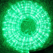 20 Metre Multi Function Green LED Rope Light Ideal for Christmas Displays