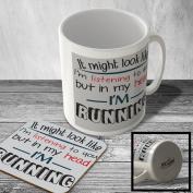 MAC_TXT_224 ...in my head I'M RUNNING - Mug and Coaster set