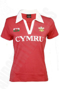Wales Welsh Short Sleeve 'Red & White' Ladies Rugby Shirt