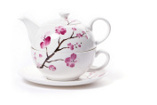 The Tea Makers of London Cherry Blossom Tea for One Teapot and Cup and Saucer