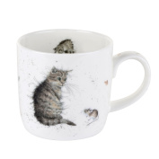 Wrendale by Royal Worcester Cat and Mouse Cat Single Mug