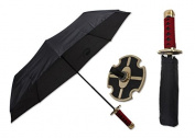 KCCEDGE 37cm Kasai (Fire) Red Samurai Handle Umbrella