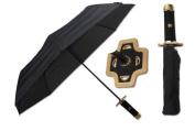 KCCEDGE 37cm Danketsu (Unity) Black Samurai Handle Umbrella