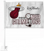 Miami Heat 2013 NBA Champions Car Flag Double sided
