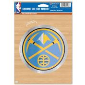 NBA Denver Nuggets Die Cut Logo Chrome Magnet, 16cm x 23cm