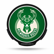 Milwaukee Bucks Official NBA 22cm x 16cm Light Up Power Car Decal by Rico Industries