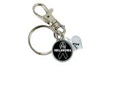 Custom Melanoma Disease Awareness Ribbon Silver Key Chain Initial Family Charm