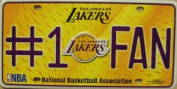 Los Angeles Lakers #1 Fan NBA Embossed Metal Novelty Licence Plate Tag Sign 82010M