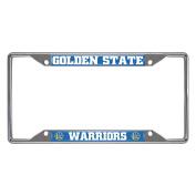 FANMATS 20409 NBA - Golden State Warriors Licence Plate Frame, Team Colour, 16cm x 31cm