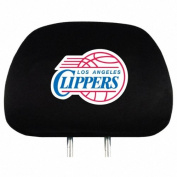 LA Clippers Auto Headrest Covers Set of Two NBA