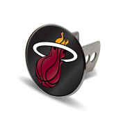 NBA Miami Heat Laser Cut Metal Hitch Cover, Large, Silver