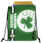 Forever Collectibles Boston Celtics Cropped Logo Drawstring Backpack Gym Sack