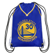 Golden State Warriors Official NBA Drawstring Backpack Gym Bag - Stephen Curry #30