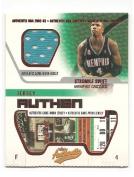 Stromile Swift 2002-03 Fleer Authentix Game Worn Authentix Jersey Insert Card #JA-SS