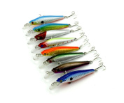 Hengjia 8pcs Minnow Fishing Lures Crankbaits for Northern Pike, Walleye, and Largemouth Bass