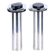(2x) Amarine-made 15 Degree ROD Holders Stainless Steel Rubber Cap, Liner, Gasket