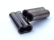 Mini Copper Double Barrel Crimp Sleeves 1.3mm x 7mm - 100 pieces