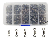 JSHANMEI 320pcs/box Size 2 4 6 8 10 Strong Fishing Rolling Swivels Fishing Tackle Accessories Line to Hook Connectors