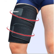 Kagogo Thigh Compression Sleeves (1 sleeve) Men, Women & Youth Hamstring Pain/ Quad Support & Recovery - Reduce Groyne Strains & Cramps - Snug & Warm For Tennis, Soccer, Basketball Sports