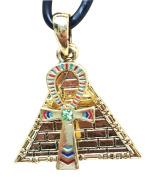 Egyptian Theme Pewter Alloy Pyramid Ankh Necklace Pendant Jewellery Fashion