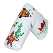 Craftsman Golf Oceam World Fish Crab Seaweed White Blade Putter Cover Headcover Magnetic Closure For Scotty Cameron Taylormade Odyssey …