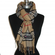 SM01 (US Seller)Camel_LONG SCARF 180cm x 30cm Warm Solf Scotland Wool Fashion