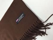 (US Seller) 180cm x 30cm Brown_New Fashion Scarf Solid Scotland Made Warm
