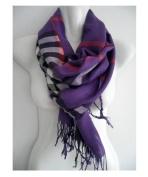 Purple_(US SELLER)Cape 190cm x 70cm Winter Warm Soft Scarf Stole Wrap Shawl