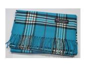 Cyan Blue_(US Seller)New Fashion Scarf Scotland Made Warm Wool - A91