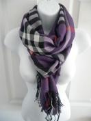 Purple_(US SELLER) Men Women Winter Warm Soft Scarf Stole Wrap Shawl 190cm x 70cm