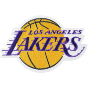 Official Los Angeles Lakers Logo Large Sticker Iron On NBA Basketball Patch Emblem